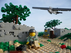 "Operation Mercury ""The First Reinforcements"" (Rebla) Tags: world 2 outside war lego mercury outdoor wwii battle crete ww2 forced operation fp prespective of brickarms fallschirmjäger"