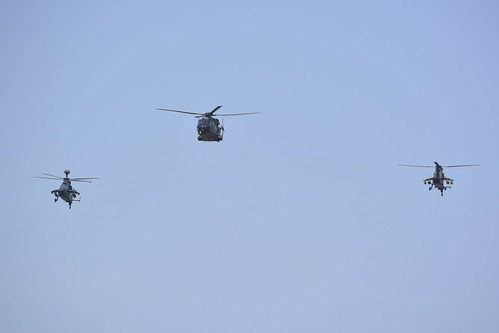 2 Eurocopter Tiger (left UHT / right HAP) helicopters and NH90 TTH