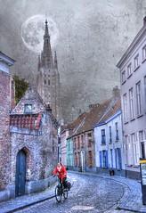 Bruges (Cat Girl 007) Tags: travel europe belgium medieval cobblestone textures bruges windingstreet