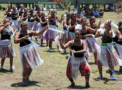 dancers from Wairavanua community at the opening of the new school