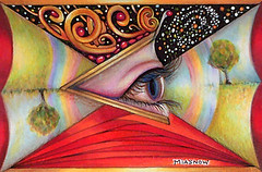 Drawing ~How We See (MiaSnow) Tags: color eye pencils drawing seeing fears zentangle