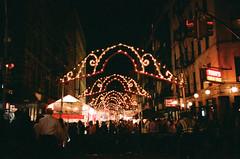 weekend lights (christy kurtz) Tags: nyc newyorkcity party film 35mm lights weekend leicaminilux