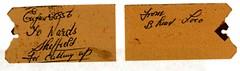 42856 ticket for scrap at T.W. Wards, Beighton 1965. (Dave Wragg) Tags: crab railway loco steam birkenhead locomotive scrapyard scrap 6c hughes beighton 42856 twward