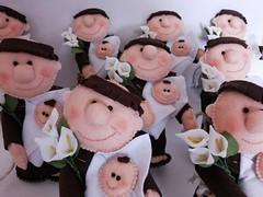 Santinho Casamenteiro (Fábrica de Artes by lubieska) Tags: casamento feltro santo santinho antônio religioso