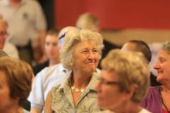 Helen Young and, foreground, Christine English at Casa della Memoria