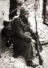 German soldier in Stalingrad 1942 (Za Rodinu) Tags: world 2 man men history vintage soldier war gun russia military rifle rifles front german weapon ww2 soldiers historical guns 1942 1945 rare troops 1944 1943