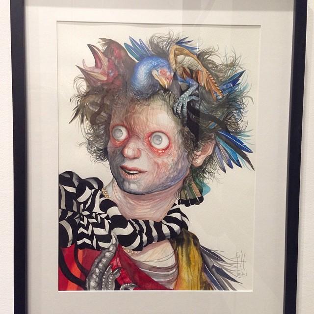 """Gorgona"" Jose Luis Carranza • ""Bestiario"" #muestra colectiva #arteenlima #arte #artinlima #art #artistaperuano #artist #artista #peruvianartist #nofilter"