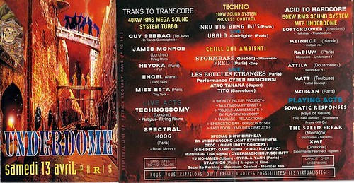 "Patrice Heyoka - Flyer 13/04/1996 - ""Underdome 2"" (Paris) <a style=""margin-left:10px; font-size:0.8em;"" href=""http://www.flickr.com/photos/110110699@N03/11337263493/"" target=""_blank"">@flickr</a>"