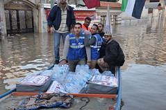 Responding to Floods in Gaza, Palestine (Ummah Welfare Trust) Tags: poverty charity water israel islam east relief muslims middle humanitarian ngo