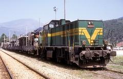 DE 11 035  Bahce  11.06.92 (w. + h. brutzer) Tags: analog train turkey nikon eisenbahn railway zug trains trkei lokomotive bahce diesellok eisenbahnen tcdd de11 dieselloks webru