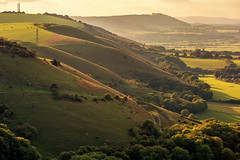 escarpment (Sam_C_Moore) Tags: autumn trees sunset green landscape sussex countryside haze walks afternoon hills fields southdowns nationalgeographic devilsdyke fulkingescarpment