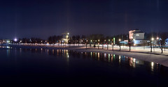 Joensuu By Night (s.niemelainen) Tags: winter snow suomi finland river north moonlight scandinavia northern lumi talvi joensuu joki karjala pielisjoki carelia kuutamo pohjois