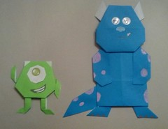 Monsters Inc. (calebspeaks) Tags: mike origami disney pixar sully monstersinc flickrandroidapp:filter=none