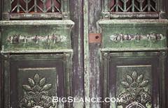 Bellefontaine Tate Mausoleum Doors (BigSéance) Tags: cemeteries green cemetery bronze photography doors tate stlouis historic mausoleum saintlouis handles bellefontainecemetery bronzedoors historiccemeteries mausoleumdoors tatemausoleum