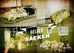 Seite 1 Flaneurkarte (Bielefelder Flaneure) Tags: müll bielefeld abfall müllabfuhr gelbesäcke stadtgeschichte 800jahrebielefeld bielefelderflaneure