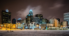 charlotte queen city skyline near romare bearden park in winter snow (DigiDreamGrafix.com) Tags: park city winter copyright white colors skyline buildings charlotte near snowstorm january structures fluffy stuff snowing february rare queencity copyrighted romarebearden inwintersnow