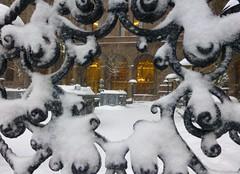 Courtyard (KaDeWeGirl) Tags: newyorkcity houses winter snow fence hotel iron manhattan landmark courtyard midtown villard mckimmeadwhite newyorkpalace newyorkcitylandmarkspreservationcommission nyclpc