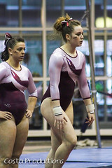 Amy Winczura & Maddie Kremer (Erin Costa) Tags: ladies college tx kitty arena gymnast gymnastics lions tumble denton twu magee centenary lindenwood