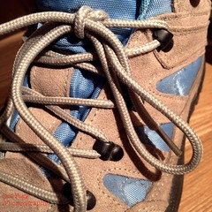 in leather and laces (green-dinosaur) Tags: leather square beige colours boots 365 iphone iphone4 365d iphoneography suefagg