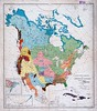 Linguistic Families of North America (sjrankin) Tags: illustration map edited historic northamerica ethnology c1907 northernmexico 2march2014 linguisticfamiliesofnorthamerica