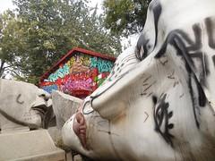 Beijing 798 Art Zone - broken heads (ashabot) Tags: china sculpture art abandoned markets beijing cities streetscenes