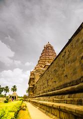 Gangaikonda Cholapuram (Srini GS) Tags: sunset sculpture india history nature temple ancient village farm tamil chola tanjore chidambaram darasuram cholapuram vimana gangaikonda chozha