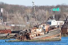 Ocean Tug of Wood (TugSailor) Tags: abandoned marine maritime tug kills derelict boneyard wrecks newyorkharbor arthurkill libertyservice