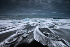 Jewellery Beach (CResende) Tags: seascape motion ice beach nature water diamonds blacksand iceland sand stones jewellery nikkor jewels jkulsrln d800 1635 cresende lucroit