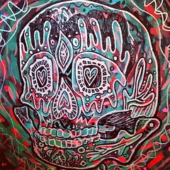 A painting by Zack. #skull (Duncan Creamer) Tags: square squareformat hudson zack iphoneography instagramapp uploaded:by=instagram zatp