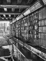 Under the bridge (richwself) Tags: subway landscape blackwhite cardiff panasonic1445mmf3556 silverefexpro2 lumixgx7