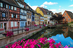 """Morning Reflections in """"Little Venice"""" (thereflectivelens) Tags: flowers france reflections colorful europe ngc eu colmar alsace littlevenice halftimbered colombages petitevenise greatphotographers platinumpeaceaward wowl3"""