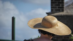 Elegant Hat (Theen ...) Tags: blue sky green hat yellow lady hair neck lumix dress post sydney straw observatory elegant dressed beautifully theen