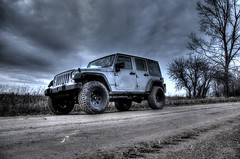 Jeep Wrangler Rubicon (ChrisMRichards) Tags: road sky black clouds silver dark lift jeep 4x4 michigan dirt pro thumb chrysler unlimited hdr jk goodyear billet comp lifted wrangler rubicon duratrac