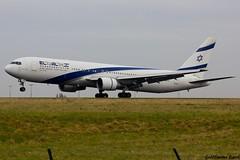 4X-EAR 767 El Al (Guillaume Carr) Tags: paris de al charles el gaulle spotting 767 roissy 2015 4xear