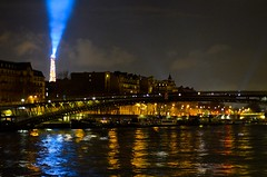 Rive Gauche (Alex Davis Photography) Tags: light paris france tower seine night river nikon eiffel pont d5100