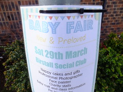 New or Preloved Babies anyone? (stevenbrandist) Tags: baby sign notice leicestershire leicester lamppost birstall babyfair