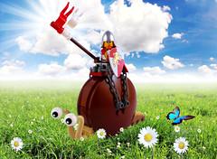 Easy Rider (Swan Dutchman) Tags: castle lego snail fantasy knight