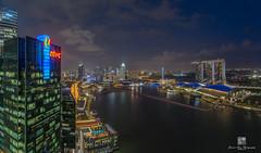 Marina Bay Sands (Jansen Chua) Tags: water singapore southeastasia cityscape sony casino esplanade bluehour centralbusinessdistrict tallbuildings helixbridge boattrails singaporeflyer singaporetourismboard mbfc marinabayfinancialcentre