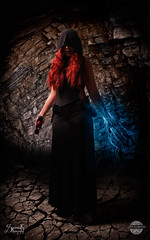 Geo Kuromi as a Female Sith by SpirosK photography: Cave Lightnings (SpirosK photography) Tags: portrait studio starwars cosplay sith costumeplay femalesith spiroskphotography geokuromi
