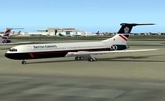 British Airways Landor VC10-500 FS9 (jonf45 - 2 million views-Thank you) Tags: 2004 paint flight british airways bae simulator landor baw vc10 repaint skiin relivery vc10500
