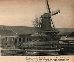 Panorama -stad amsterdam Zaandam  zaagmolen het Jonge schaap (janwillemsen) Tags: molen zaandam panoramastadamsterdammagazineillustration1938