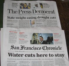 Our Tuesday Morning Headlines (Beedle Um Bum) Tags: newspapers drought watercuts