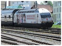 SBB CFF FFS, Re 460 041-7 (v8dub) Tags: railroad station train schweiz switzerland suisse gare 7 eisenbahn railway zug bahnhof loco sbb locomotive re fribourg freiburg bahn treno trein ffs lokomotive lok 460 cff 041