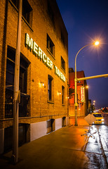 Mercer Tavern (Kurayba) Tags: ca street city urban canada wet rain sign night neon edmonton pentax arcade mercer full rainy alberta tavern frame 20 ww avenue mode ff f28 104 k1 pentaxa smcpa20mmf28