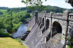 Lake Vyrnwy Dam (alyrees) Tags: park camera uk flowers blue trees light summer sky plants lake hot green tower nature water wales clouds boats photography countryside photo warm peace natural united country kingdom hills national photograph tavern dslr snowdonia vyrnwy llanwddyn d3100