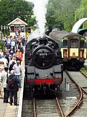 Ongar station, Essex (Deptford Draylons) Tags: england trains railways essex steamlocomotives ongar preservedrailways class421 eppingongarrailway electricmultipleunits britishrailwaysstandardclass4