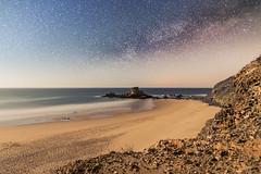 Noche estrellada! (carls_camacho) Tags: sea paisajes naturaleza beach nature night stars landscape noche mar rocks playa estrellas rocas vialactea
