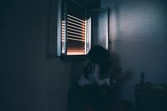 deep blue (alessiagiuffrida_) Tags: blue light portrait selfportrait window myself thought blu