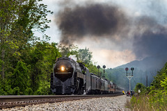 N&W 611 at Montvale,VA (Kyle Yunker) Tags: train j nw norfolk class steam southern western passenger signal excursion cpl 611 484