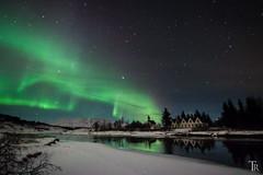 The show of Northern lights (Astro-Foto-Tom) Tags: winter snow stars iceland nightscape nacht astrophotography aurora thingvellir ingvellir auroraborealis starrynight nordlicht